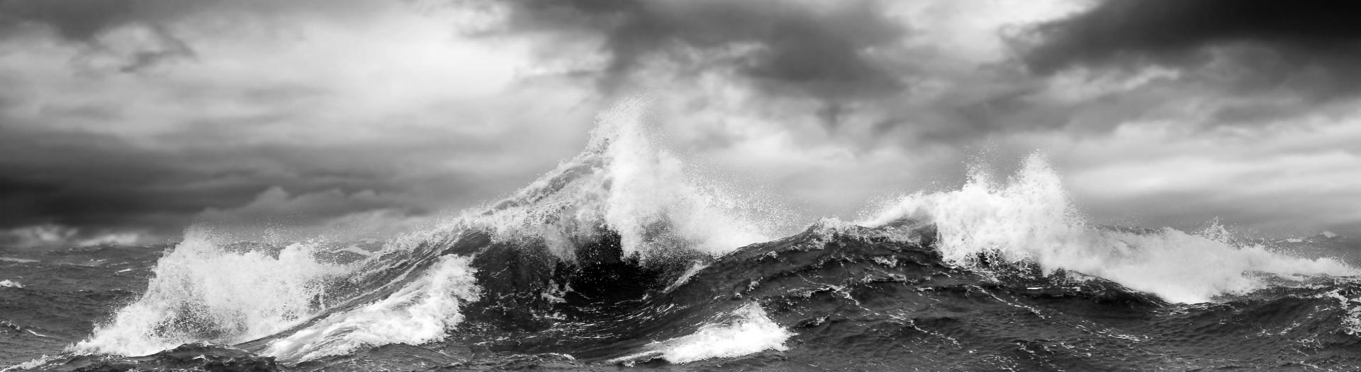 A wild stormy sea